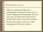 delegation cont