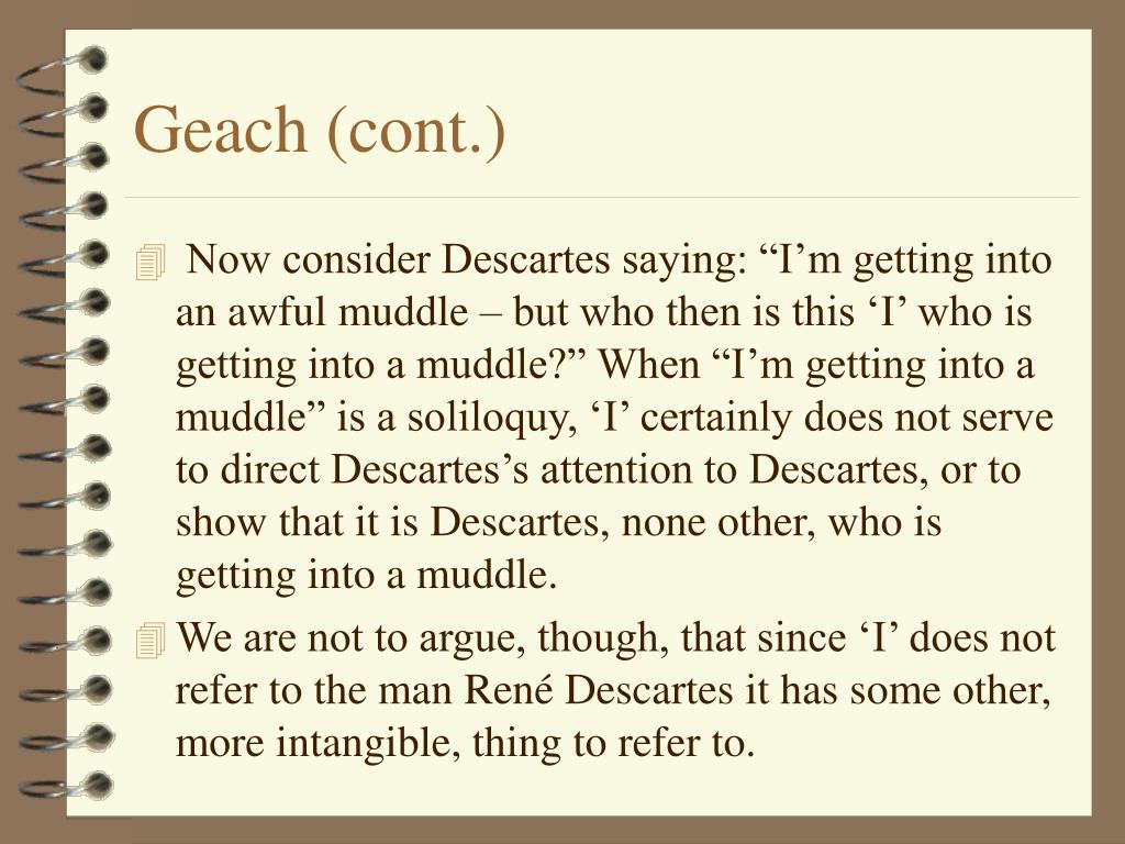 Geach (cont.)