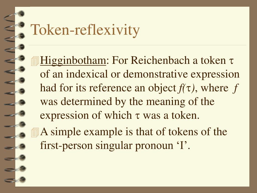 Token-reflexivity