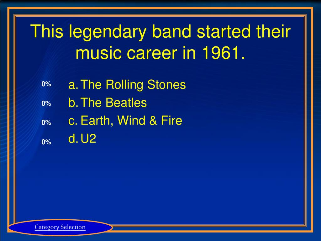 This legendary band started their music career in 1961.