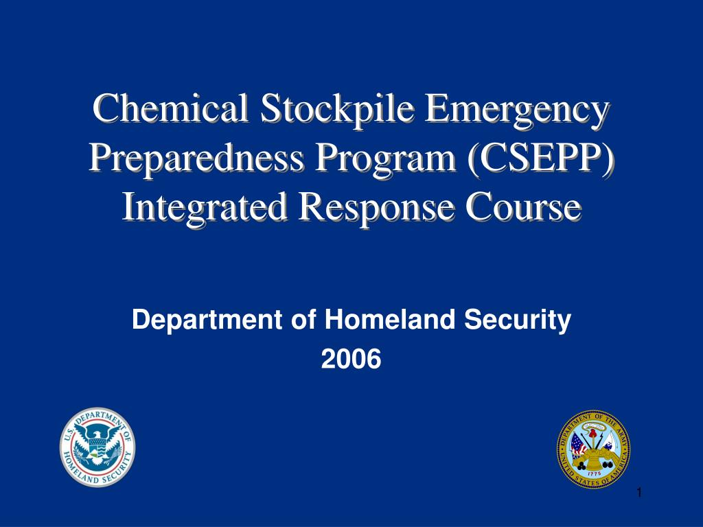 chemical stockpile emergency preparedness program csepp integrated response course l.