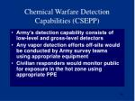 chemical warfare detection capabilities csepp