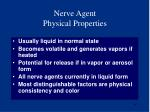 nerve agent physical properties