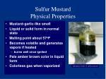 sulfur mustard physical properties