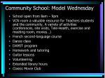 community school model wednesday