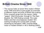british cinema since 1940