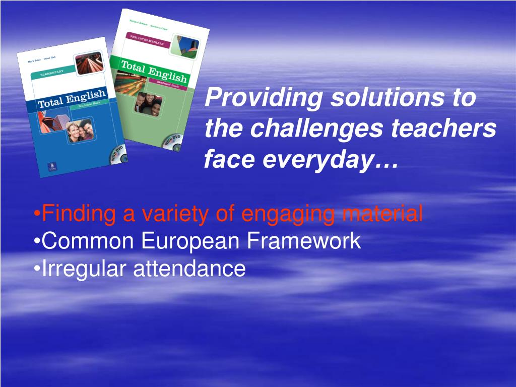 Providing solutions to the challenges teachers face everyday…