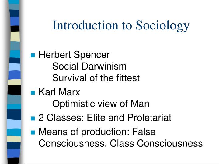 introduction of sociology Introduction to sociology table of contents definition of sociology introduction to sociology the birth of sociology types of sociology the other.