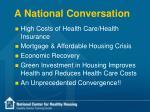 a national conversation