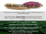 the history of it all