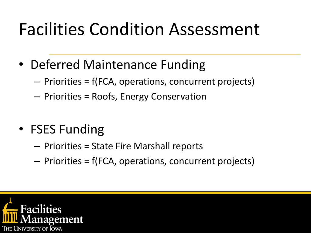 Facilities Condition Assessment