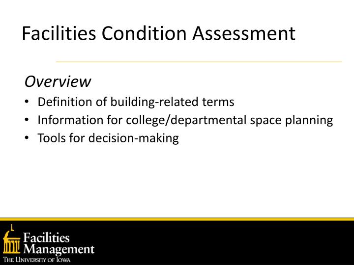 Facilities condition assessment2