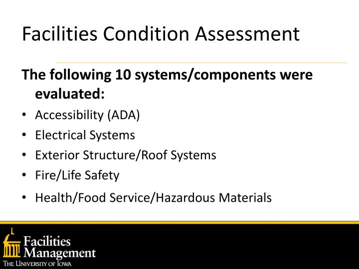 Facilities condition assessment3