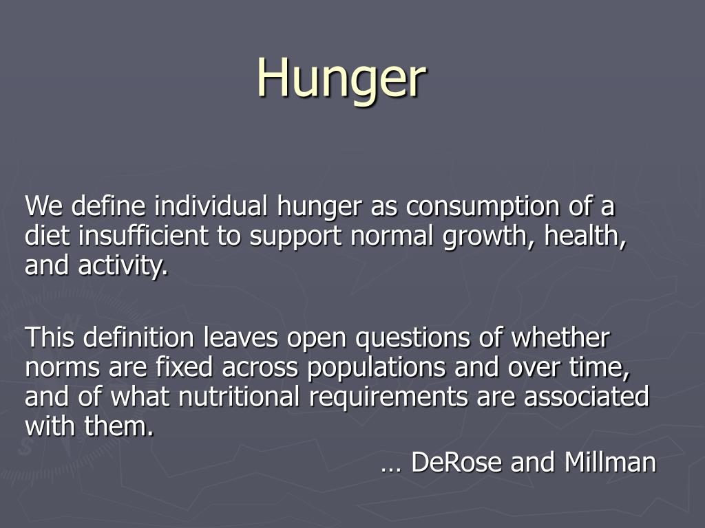 ppt - hunger powerpoint presentation - id:660765