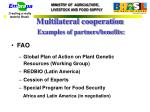 multilateral cooperation examples of partners benefits