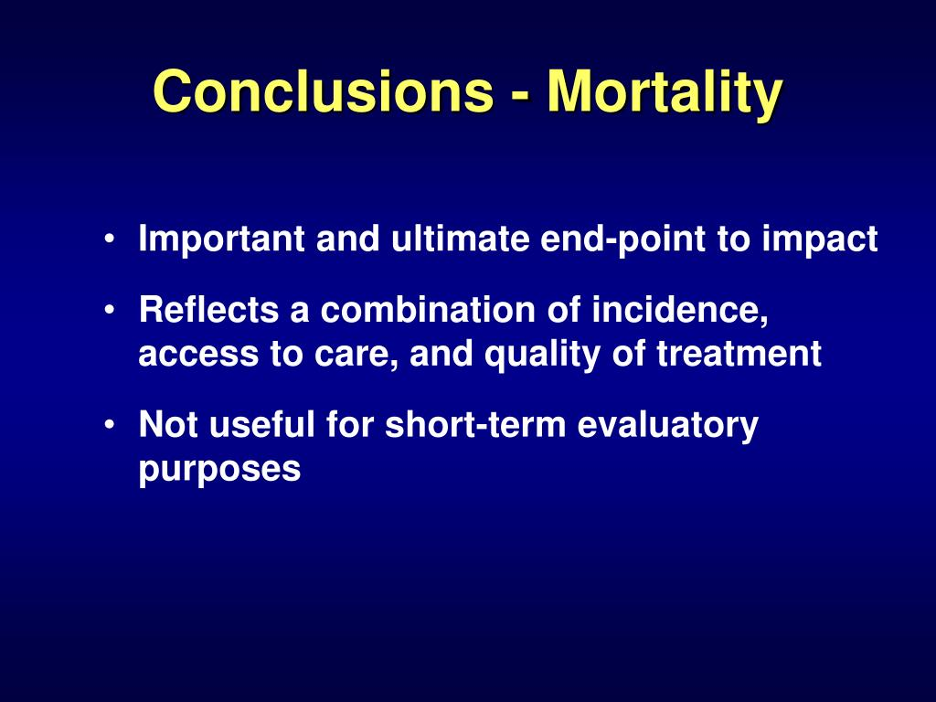 Conclusions - Mortality