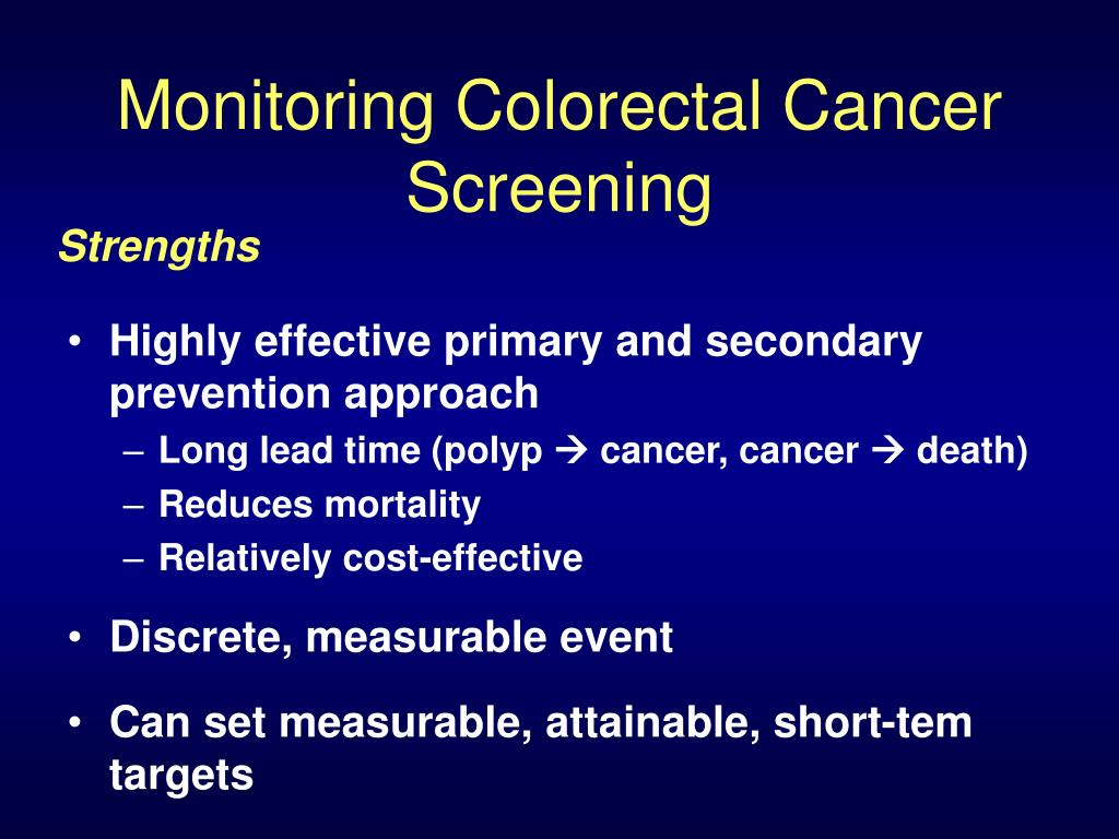 Monitoring Colorectal Cancer Screening