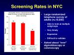 screening rates in nyc