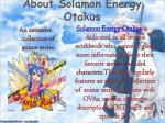 about solamon energy otakus