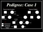 pedigree case 1