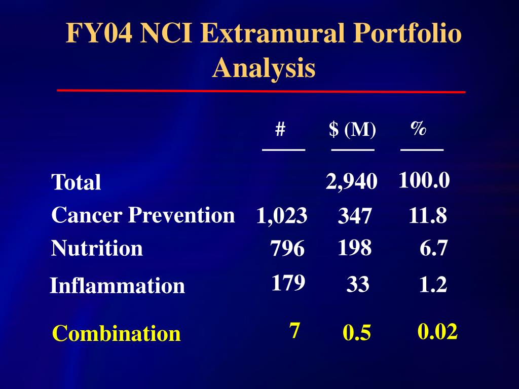 FY04 NCI Extramural Portfolio Analysis