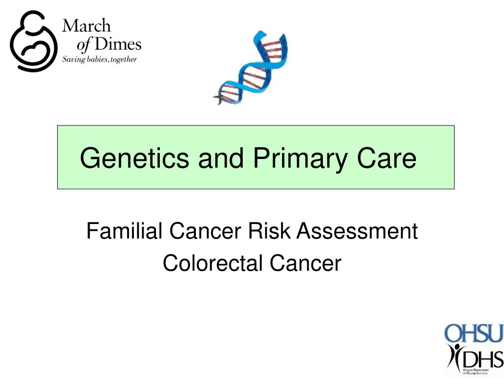 genetics and primary care l.
