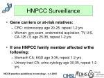 hnpcc surveillance