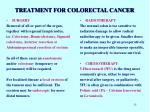treatment for colorectal cancer