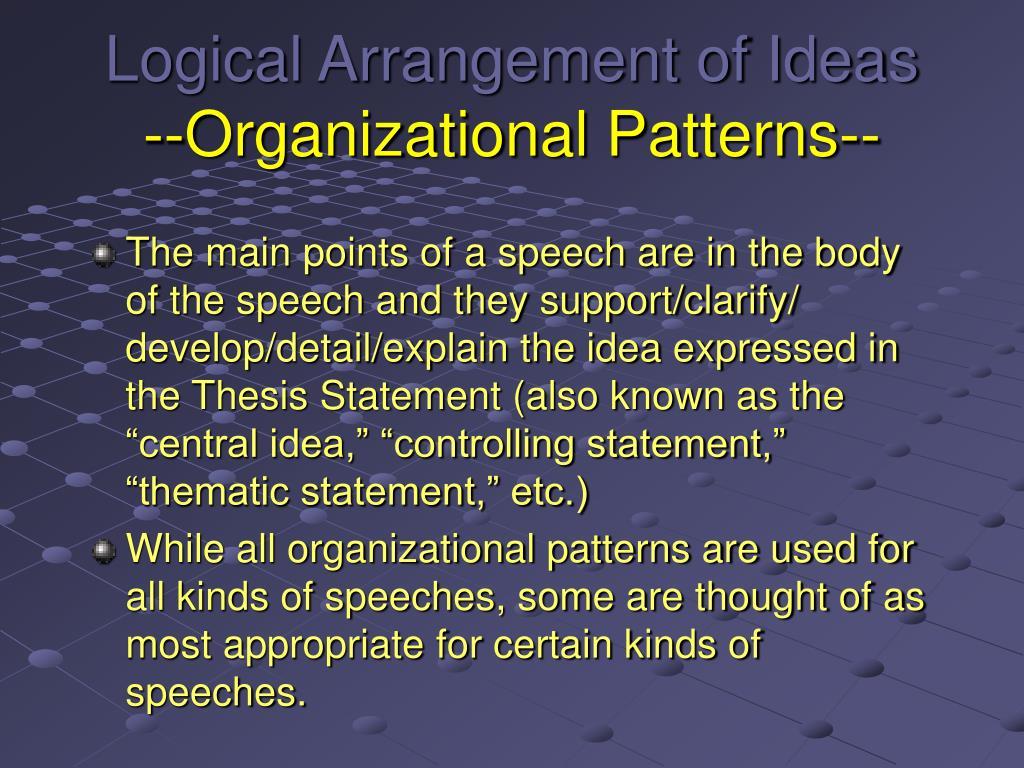 Topical Organizational Pattern Cool Design Ideas