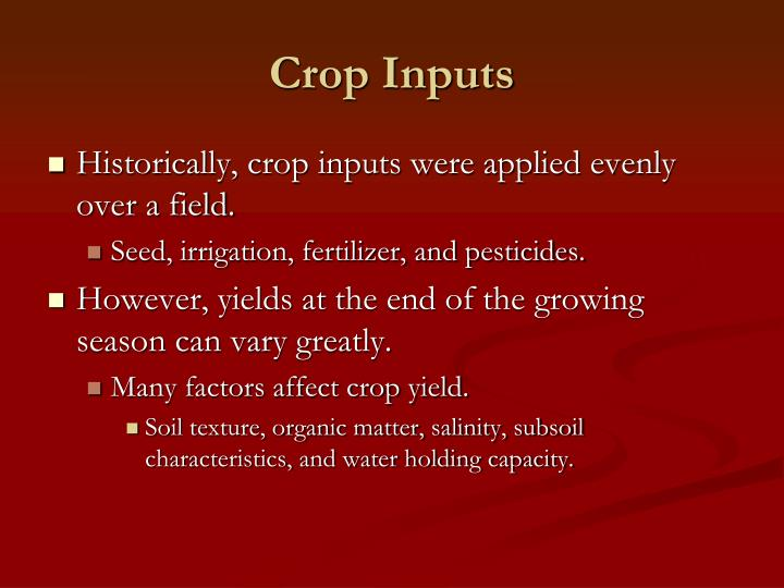Crop inputs