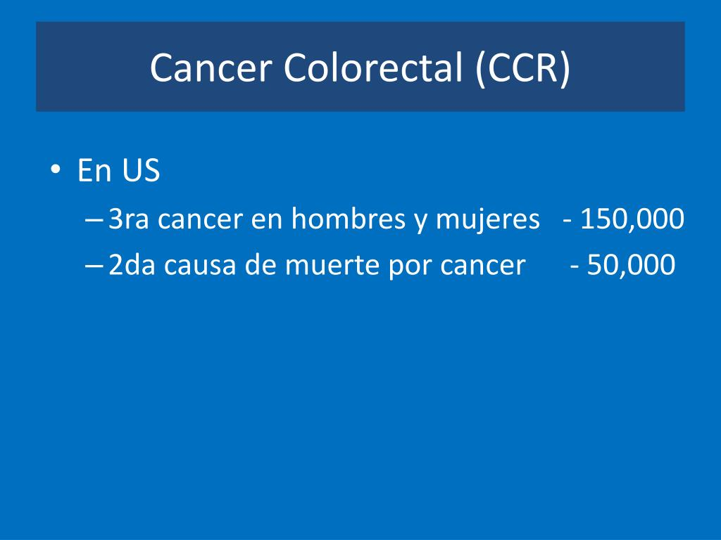 Cancer Colorectal (CCR)
