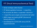 fit fecal immunochemical test