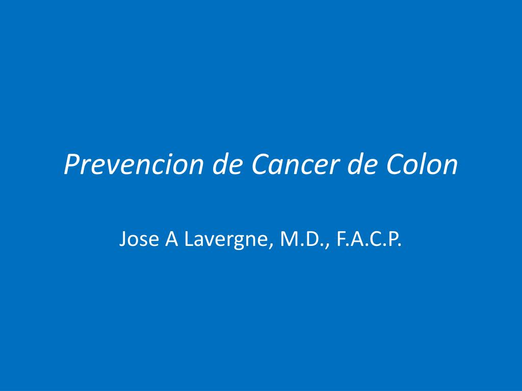 prevencion de cancer de colon l.