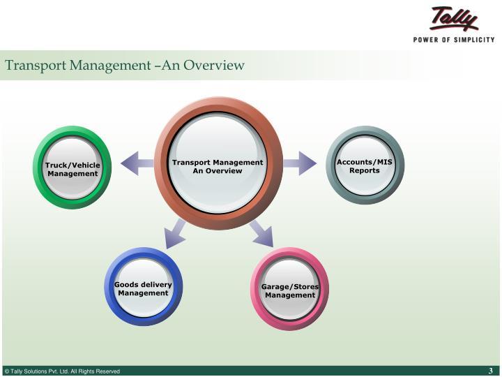 Transport management an overview
