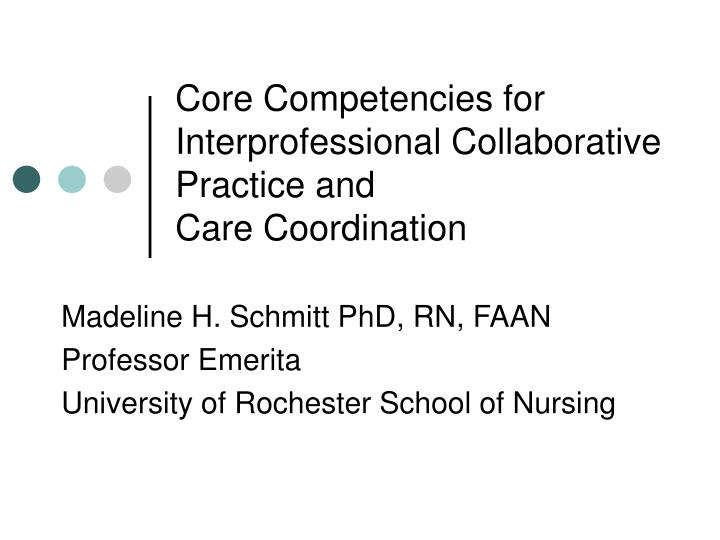 the dimensions of interprofesssional practice nursing essay Because of the word limitation for the essay, the essay will only seek to explore the interprofessional capabilities (ie knowledge, skills and attitudes) about collaborative working and communication that can enable me becoming an effective team member of an inter professional team in the future.