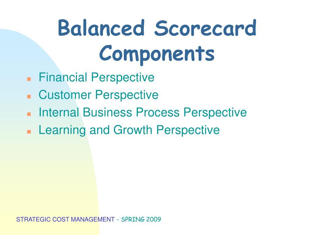 Balanced Scorecard Components