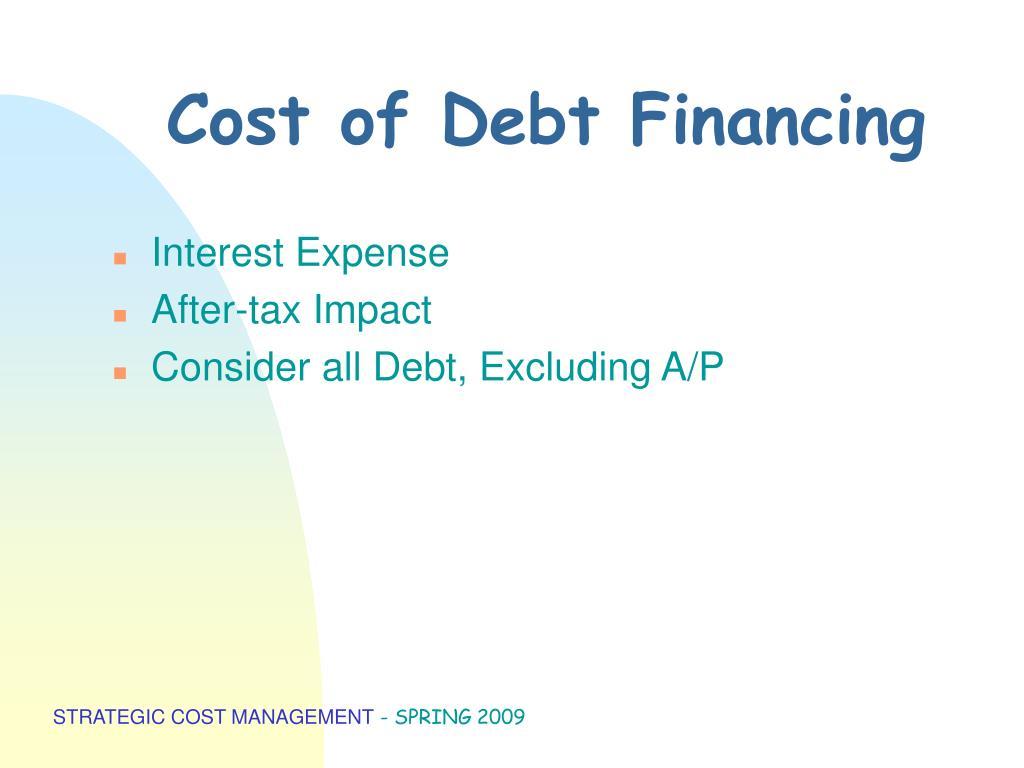 Cost of Debt Financing