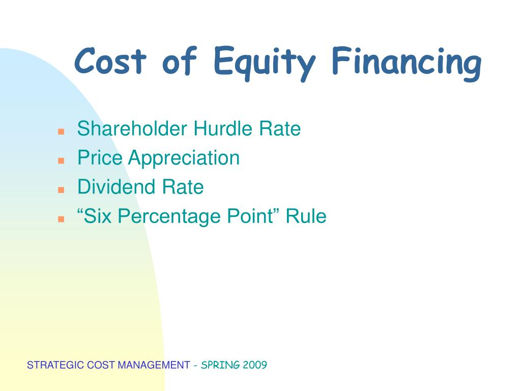 Cost of Equity Financing