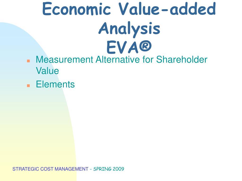 Economic Value-added Analysis