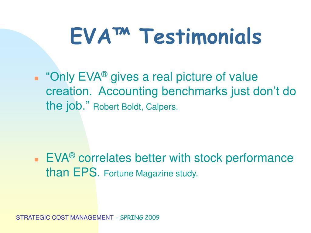 EVA™ Testimonials