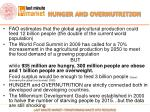 hunger and overnutrition