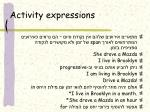 activity expressions