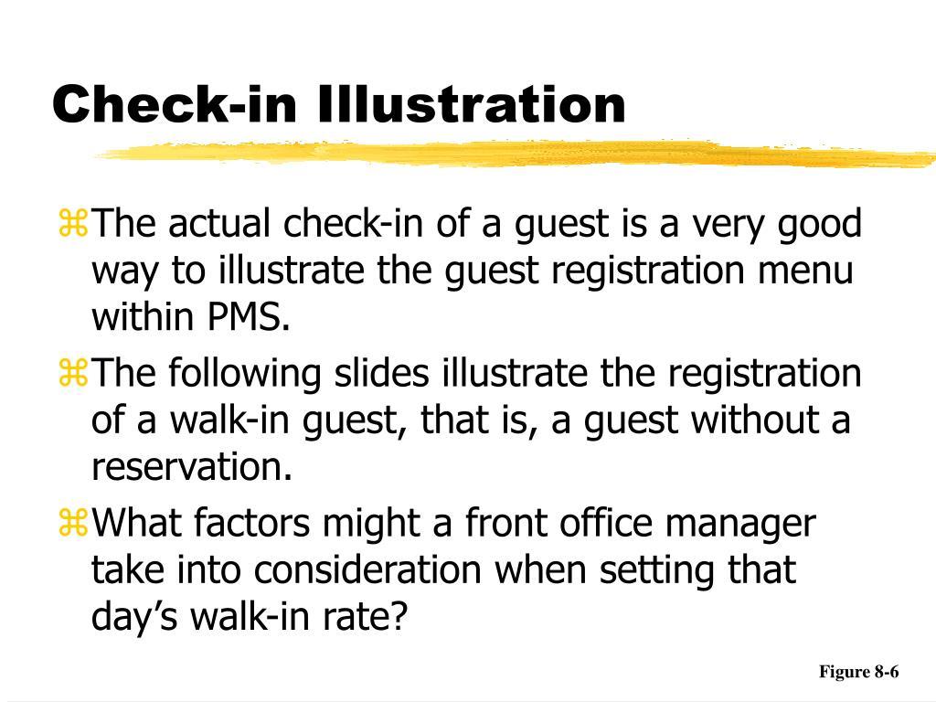 Check-in Illustration