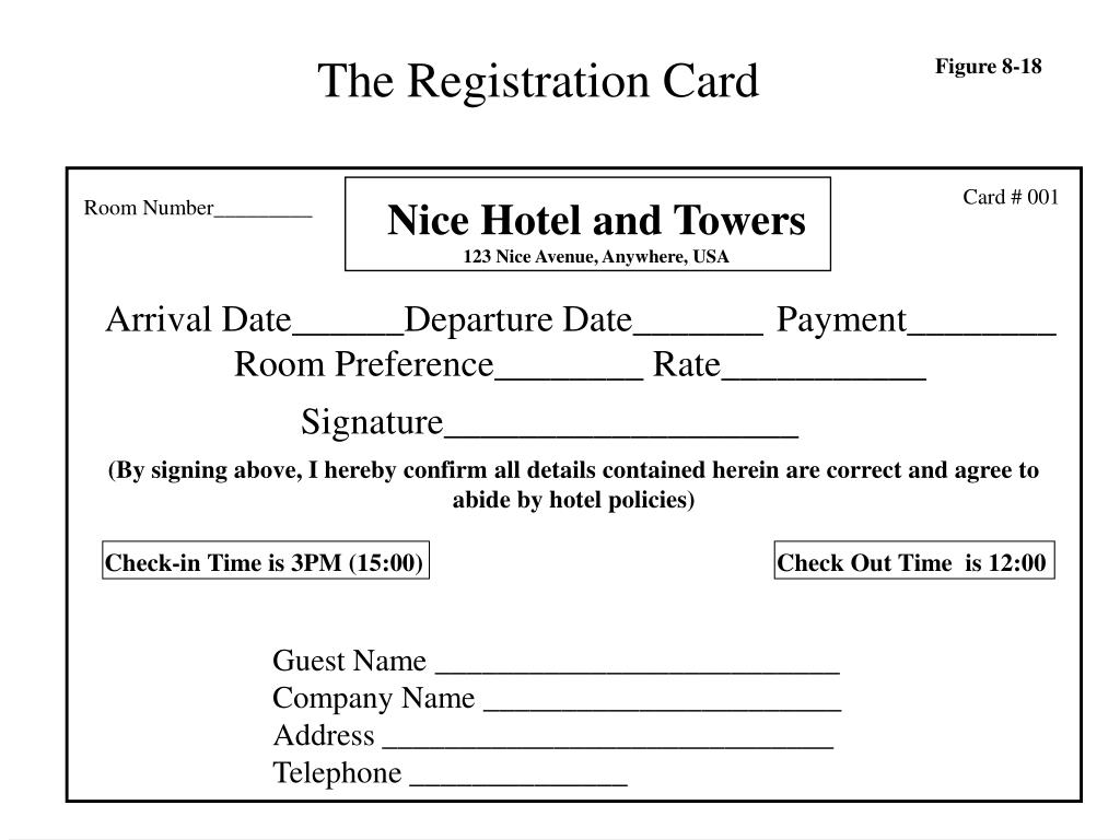 The Registration Card