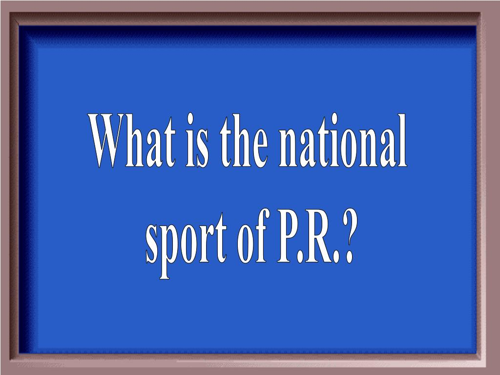 What is the national