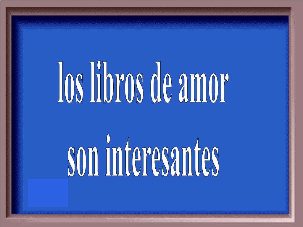 los libros de amor