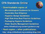 cfa standards online
