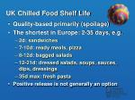 uk chilled food shelf life