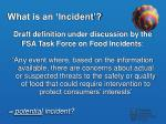 what is an incident