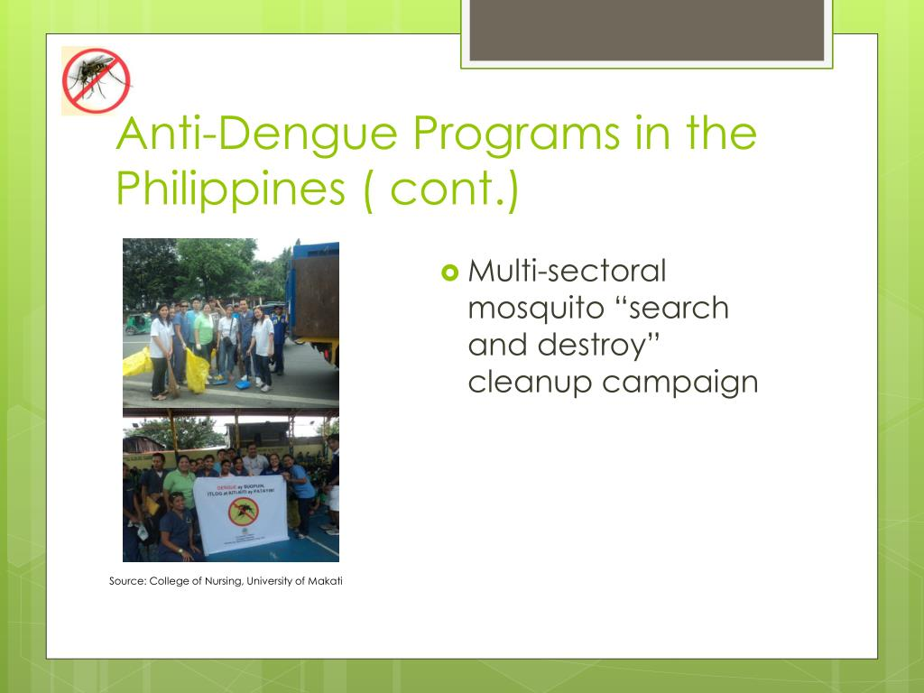 Anti-Dengue Programs in the Philippines ( cont.)
